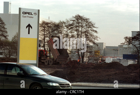 The Opel factory in Gliwice, Poland - Stock Photo