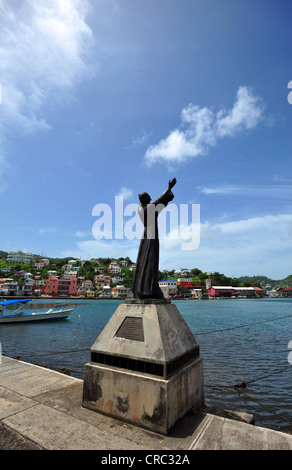 Christ of the deep statue, St Georges harbour, Grenada. - Stock Photo