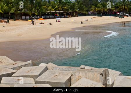 Beach in Cabo island, Luanda Angola - Stock Photo