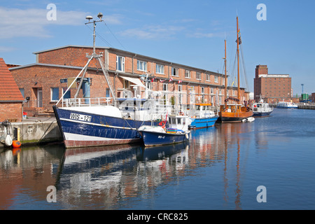 harbour, Wismar, Mecklenburg-West Pomerania, Germany - Stock Photo
