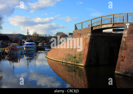 The canal basin at Stourport On Severn, Worcestershire, England, Europe - Stock Photo