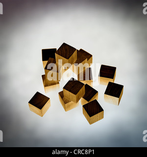 wood cubes - Stock Photo