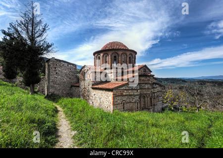 greek orthodox church in agioi deka crete greece stock