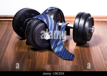 Symbolic picture for fitness in business - Stock Photo