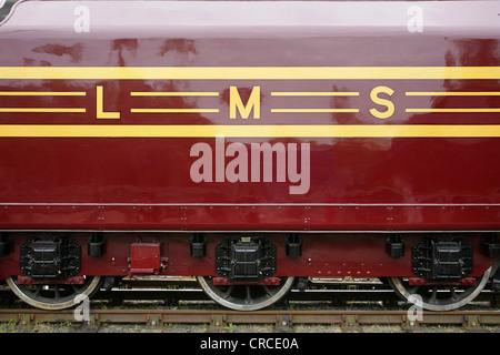 Tender of preserved LMS steam locomotive 6229 'Duchess of Hamilton'. - Stock Photo