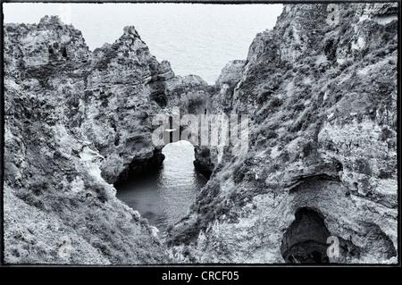 Ponta da Piedade (Mercy Point), Rock formations, Lagos, Algarve - Stock Photo
