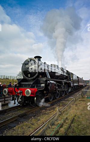 LMS Stanier Class 5 4-6-0 45305 steam train. Kitchenhill Penrith West Coast Main Line Cumbria England UK