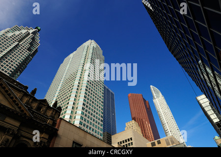 Skyscrapers on Yonge Street in Toronto, Ontario, Canada, North America - Stock Photo