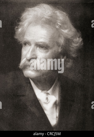 Samuel Langhorne Clemens, 1835 –1910, better known by his pen name Mark Twain. American author and humorist. - Stock Photo