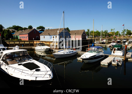 Boats in the harbour of Charlottetown, capital of Prince Edward Island, Canada, North America - Stock Photo