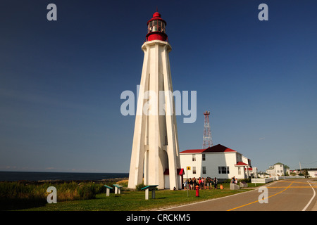 Pointe-au-Pere lighthouse, Bas-Saint-Laurent region, Gaspe Peninsula, Gaspésie, Quebec, Canada - Stock Photo