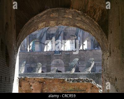 Colosseum in Rom, Italy, Lazio, Rome - Stock Photo