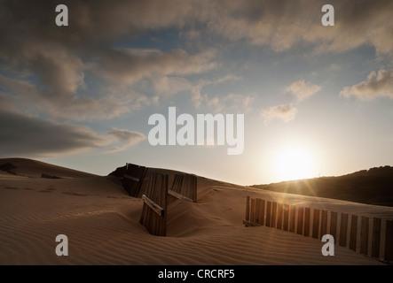 Sand dune in Tarifa, Costa de la Luz, Cadiz, Andalusia, Spain. - Stock Photo