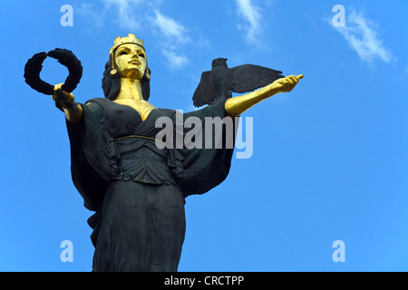 Statue of Sofia by Georgi Chapkanov in sofia, Bulgaria - Stock Photo