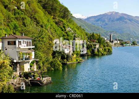 Popular destination for the English and Italian Visitors in Summer,Brissago,Swiss Border,Lake Maggiore,Italian Lakes,Italy - Stock Photo