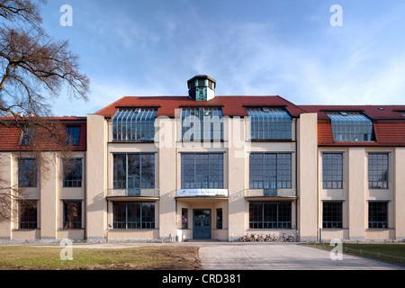 Bauhaus University Weimar, main building, UNESCO World Heritage Site, architect Henry van de Velde, Weimar, Thuringia - Stock Photo