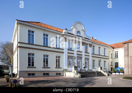 Schloss Westerholt Castle Hotel, Herten, Westerholt district, Ruhr Area, North Rhine-Westphalia, Germany, Europe, - Stock Photo