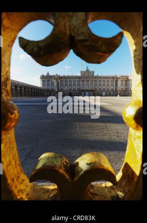 Royal Palace. Madrid. Spain - Stock Photo