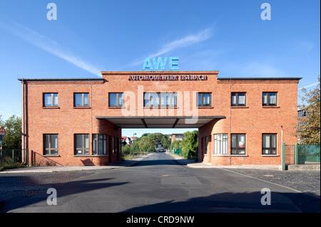 Automobilwerke Eisenach, automobile plant, gatehouse, Eisenach, Thuringia, Germany, Europe, PublicGround - Stock Photo