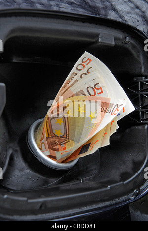 symbolic for expensive price of gasoline, Germany - Stock Photo