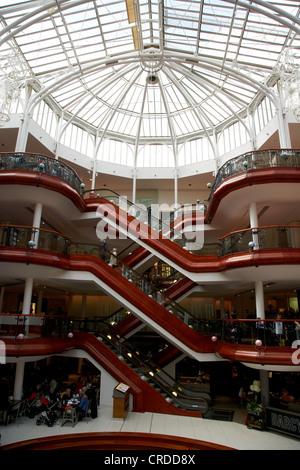 princes square shopping centre in central glasgow scotland uk - Stock Photo