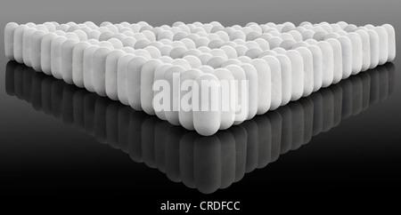 Multiple white pills on gradient - Stock Photo
