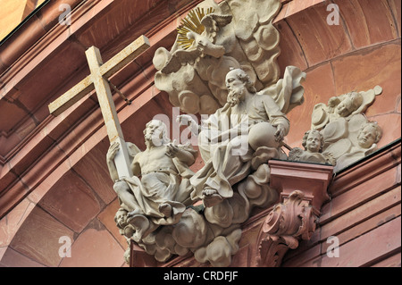 St Augustine Catholic Church, detail view of entrance, Augustinerstrasse 34, Mainz, Rhineland-Palatinate, Germany, - Stock Photo