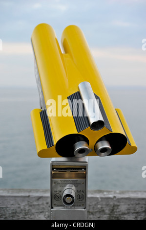 Pay binoculars on a pier in Neustadt, Schleswig-Holstein, Germany, Europe - Stock Photo