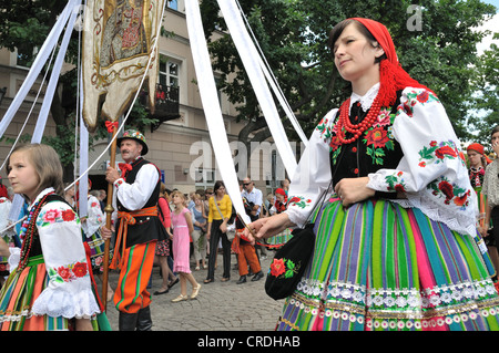 Corpus Christi Day - procession in Lowicz. - Stock Photo
