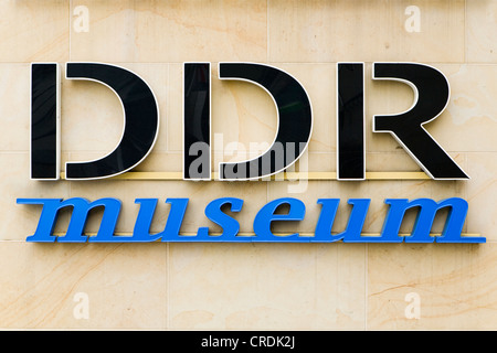 Logo of the DDR Museum, Berlin, Germany, Europe - Stock Photo