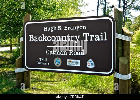 Sign Hugh Branyon Backcountry Trail Gulf Shores Ala - Stock Photo