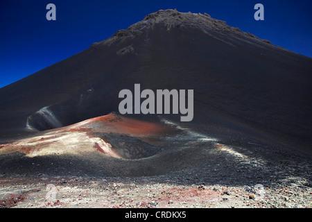 Pico pequenho and Pico de Fogo, Cap Verde Islands, Cabo Verde, Fogo - Stock Photo