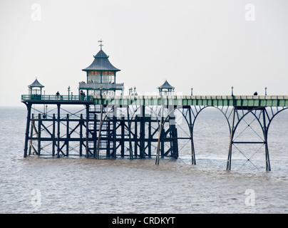 Historic pier, Clevedon, Somerset, England, UK