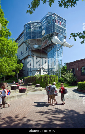 the glass elephant in the Maximilianpark, Germany, North Rhine-Westphalia, Ruhr Area, Hamm - Stock Photo