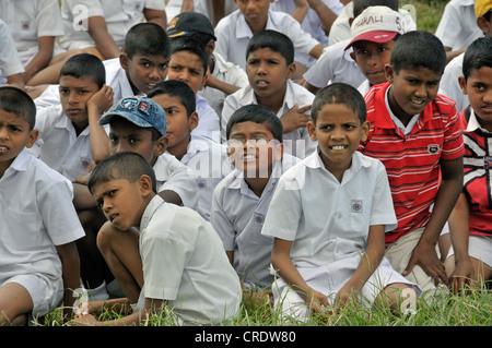 Boys wearing school uniforms, Galle, Sri Lanka, Ceylon, Asia, PublicGround - Stock Photo