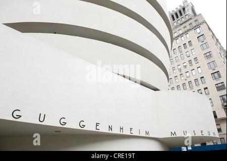 Modern architecture, Solomon R. Guggenheim Museum, Upper East Side, Manhattan, New York City, USA, North America