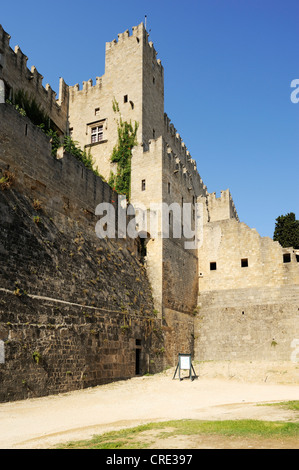 Palace of the Grand Master, Rhodes Town, Rhodes, Greece, Europe - Stock Photo