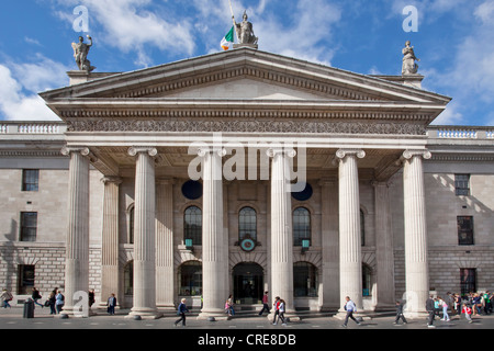 General Post Office, GPO, in O'Connell Street, Dublin, Ireland, Europe - Stock Photo