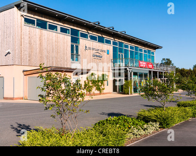 Darts Farm shopping Centre and the Exe Estuary Centre near Topsham, Exeter, Devon, England. - Stock Photo