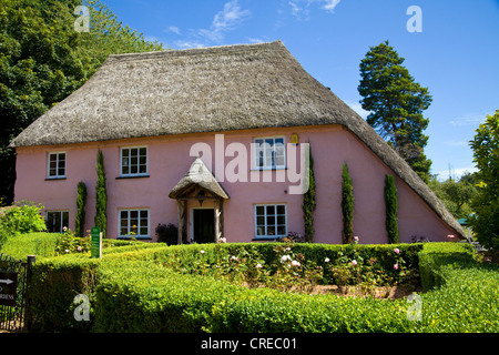 Rose Cottage is one of the most picturesque houses in the charming village of Cockington in Devon, England - Stock Photo