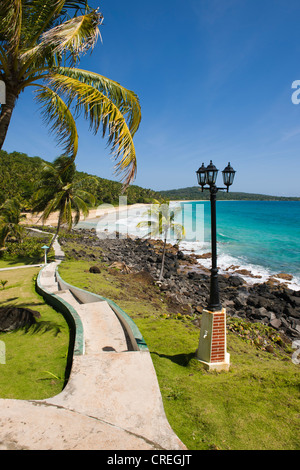 Park, Big Corn Island, Caribbean Sea, Nicaragua, Central America - Stock Photo
