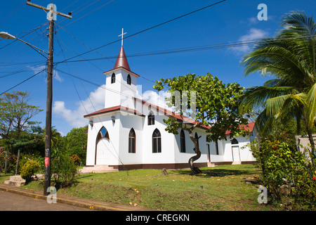 Church, Big Corn Island, Caribbean Sea, Nicaragua, Central America - Stock Photo