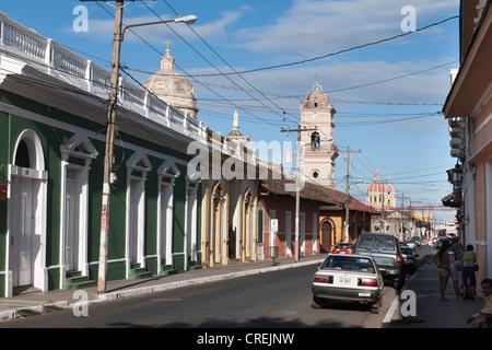 Restored colonial architecture, Granada, Nicaragua, Central America