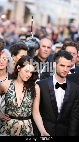 Kirsten Stewart, Tom Sturridge, at the On The Road gala screening red carpet at the 65th Cannes Film Festival France. - Stock Photo