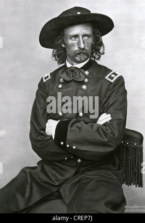 GEORGE ARMSTRONG CUSTER (1839-1876) US Army officer and cavalry commander about 1870 - Stock Photo