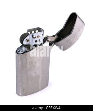 Old cigarette lighter isolated on white - Stock Photo
