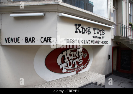 king tut's wah wah hut music venue glasgow scotland uk - Stock Photo