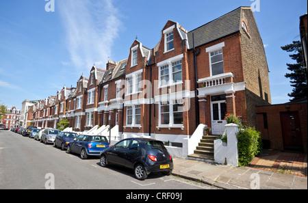Row of Georgian houses on Bishan Gardens, Highgate Village, London, N6, England, UK. - Stock Photo