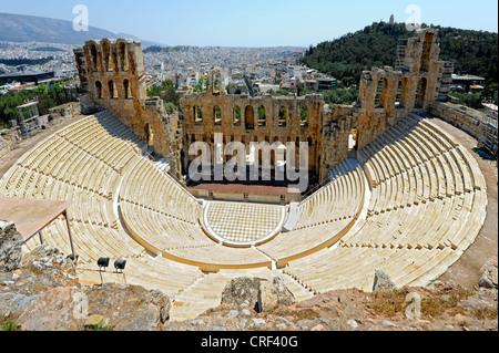 Theater of Herod Atticus Athens Greece  - Stock Photo