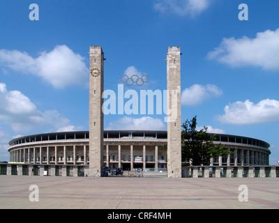 Olympiastadion (Olympic Stadium), main entrance, Germany, Berlin - Stock Photo